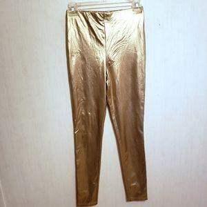 Forever 21 Metallic Gold Leggings